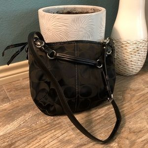 Black Coach bag crossbody or hobo
